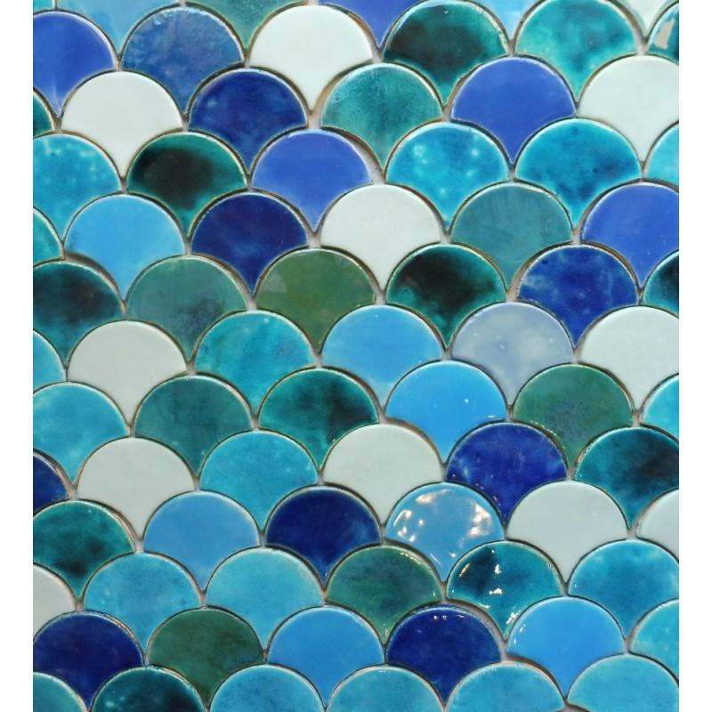 ceramic tiles turquoise in the fog