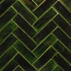 Mosaik von grünen Tannen