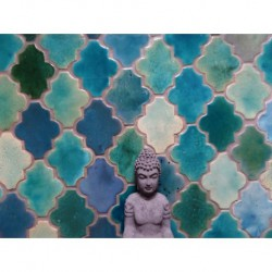 arabesque in turquoise