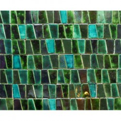 mosaic of green and turquoise
