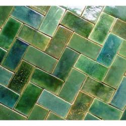 artkafle na zielono