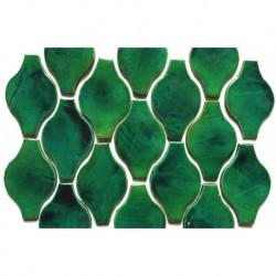 Mosaik aus Grün und Türkis