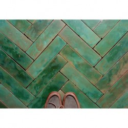 kafle zielona podłoga