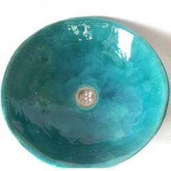 turquoise washbasin