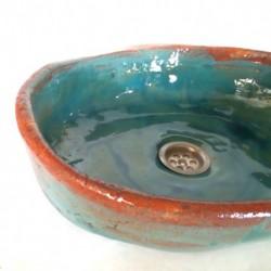 sink brick turquoise