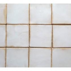 White rustic tiles