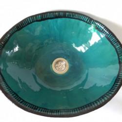 umywalka turkusowa w paski