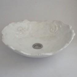 Waschbecken Pompeje in Weiß